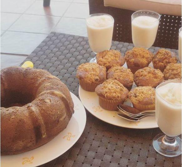 Muffins de arándanos con avena